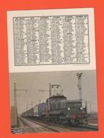 ET/A/ CALENDIER 1983 CERCLE PARISIEN TRAIN COPEF  ENTRE ORLY ET VALENTON LOCOMOTIVE DE BUTTE CC 1107 RAME TALBOT - Calendriers