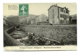 FRANCE (66) - SAILLAGOUSE (Pyrénées-Orientales) - Cerdagne Française - Monument Oliva Et Mairie - Autres Communes
