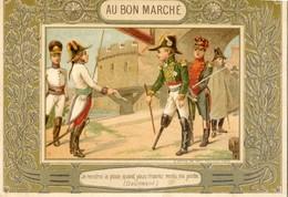 Lot De 5 Chromos - Au Bon Marché , Maison Boucicaut - Eureka, Chevalier Assas, Brennus, Daumesnil, Bataille Fontenoy - Au Bon Marché