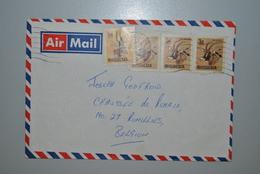 Rhodésie Enveloppe Air Mail Rhodésie Vers Belgique/Rumillies - Timbres