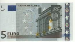 "5 EURO  ""P""  Olanda     Firma Trichet     E 002 I6  /  FDS - UNC - 5 Euro"