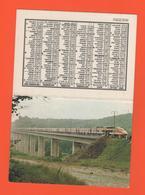 ET/A/ CALENDIER 1982 CERCLE PARISIEN TGV ARRET SUR LE PONT DE LA DIGOINE SNCF AFAC COPEF FACS - Calendriers