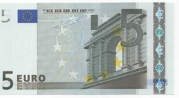 "5 EURO  ""T"" Ireland     Firma  Trichet     K 003 I6  /  FDS - UNC - EURO"