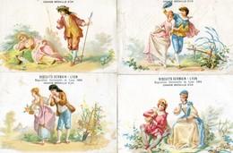 Lot De 4 Chromos - Bisquits Germain Lyon - Exposition Universelle Lyon 1894 - Confiserie & Biscuits