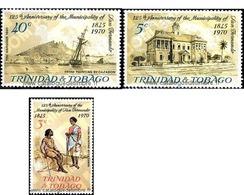 Ref. 365969 * MNH * - TRINIDAD AND TOBAGO. 1970. 125 ANIVERSARIO DEL MUNICIPO DE SAN FERNANDO - Ships