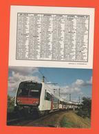 ET/A/ CALENDIER 1988 CERCLE PARISEIN TRAIN COPEF RAME AUTOMOTRICE ARRET PHOTO SUR LA VOIE AU MARCHE GARE RUNGIS - Calendriers