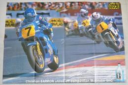 Poster Moto Christian Sarron Champion Du Monde 250 - Moto Revue - Posters