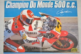 Poster Moto Champion Du Monde 500 Cc - Moto Revue - Offert Par Marlboro Yamaha - Team Agostini - Affiches