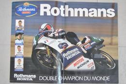 Poster Moto - Rothmans Honda - Double Champion Du Monde - Dominique Sarron Anton Mang Shunji Yatsushiro Wayne Gardner - Affiches