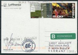 2011 Faroe Islands 'Columbus' Polar Ship Postcard. Captain Signed - Faroe Islands