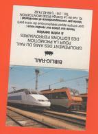 ET/A/ CALENDIER 1989  BIBLIO RAIL TGV T G V A SYBIC L AVENIR DE LA SNCF S N C F - Calendriers