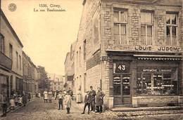 Ciney - La Rue Bonbonnier (animée, Imprimerie Librairie G. Hermans, 1923) - Ciney