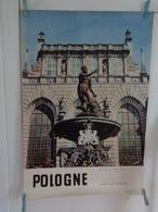 AFFICHE : POLOGNE ,Gdansk ,maison Artus  , H94,5 L 64,5 - Affiches
