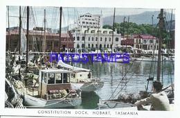 95367 TASMANIA HOBART CONSTITUTION DOCK SHIP PUBLICITY COMMERCIAL PENTOTHAL SODICO ABBOTT  POSTAL POSTCARD - Publicité