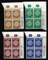 ISRAEL, 1954, Mint Never Hinged Stamp(s), In Block(s) (4x4), Coins,  SG 90-93, X802, Without Tabs - Ongebruikt (met Tabs)