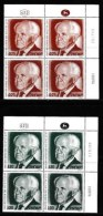 ISRAEL, 1974, Mint Never Hinged Stamp(s), In Block(s) (2x4), Ben Gurion,  SG 586-587, X822, Without Tabs - Israel