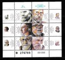 ISRAEL, 1999, Mint Never Hinged Stamp(s), In Miniature Sheet, Jewish Contributors,  M 1465, X825, - Israel