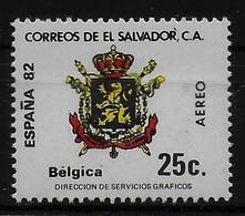 SALVADOR    PA  (  Belgique ) * *     Cup 1982     Football  Soccer Fussball   Armoiries - World Cup
