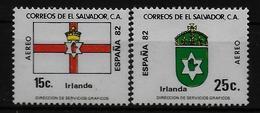 SALVADOR    PA  (  Irlande  ) * *     Cup 1982     Football  Soccer Fussball   Drapeaux  Armoiries - 1982 – Espagne