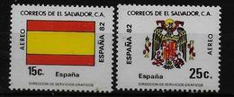 SALVADOR    PA  (  Espagne ) * *     Cup 1982     Football  Soccer Fussball   Drapeaux  Armoiries - World Cup