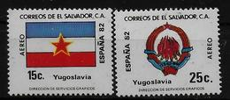 SALVADOR    PA  (  Yougoslavie ) * *     Cup 1982     Football  Soccer Fussball   Drapeaux  Armoiries - World Cup