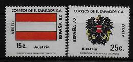 SALVADOR    PA  (  Autriche ) * *     Cup 1982     Football  Soccer Fussball   Drapeaux  Armoiries - World Cup