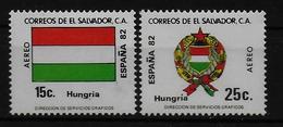 SALVADOR    PA  (  Hongrie ) * *     Cup 1982     Football  Soccer Fussball   Drapeaux  Armoiries - 1982 – Espagne