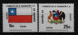 SALVADOR    PA  (  Chili  ) * *     Cup 1982     Football  Soccer Fussball   Drapeaux  Armoiries - 1982 – Espagne
