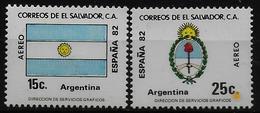 SALVADOR    PA  (  Argentine ) * *     Cup 1982     Football  Soccer Fussball   Drapeaux  Armoiries - 1982 – Espagne