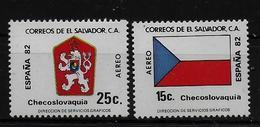 SALVADOR    PA  (  Tchecoslovaquie ) * *     Cup 1982     Football  Soccer Fussball   Drapeaux  Armoiries - 1982 – Espagne