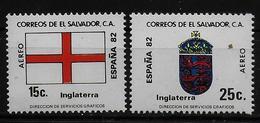 SALVADOR    PA  (  Angleterre ) * *     Cup 1982     Football  Soccer Fussball   Drapeaux  Armoiries - 1982 – Espagne