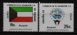 SALVADOR    PA  (  Koweit ) * *     Cup 1982     Football  Soccer Fussball   Drapeaux  Armoiries - World Cup