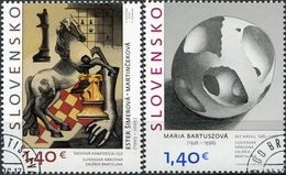 Slovakia. 2016. Art (CTO) Set Of 2 Stamps - Used Stamps