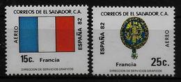 SALVADOR    PA  (  France ) * *     Cup 1982     Football  Soccer Fussball   Drapeaux  Armoiries - 1982 – Espagne