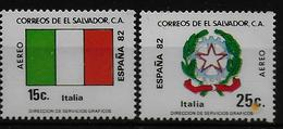 SALVADOR    PA  (  Italie ) * *     Cup 1982     Football  Soccer Fussball   Drapeaux  Armoiries - World Cup