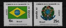 SALVADOR    PA  (  Bresil ) * *     Cup 1982     Football  Soccer Fussball   Drapeaux  Armoiries - World Cup