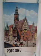 AFFICHE : POLOGNE ,Wroclaw ,l'hotel De Ville  , H 97,5 L 64,5 - Affiches