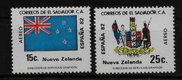 SALVADOR    PA  (  Nouvelle Zelande ) * *     Cup 1982     Football  Soccer Fussball   Drapeaux  Armoiries - World Cup