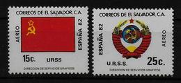 SALVADOR    PA  (  URSS ) * *     Cup 1982     Football  Soccer Fussball   Drapeaux  Armoiries - World Cup