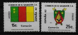 SALVADOR    PA  (  Cameroun ) * *     Cup 1982     Football  Soccer Fussball   Drapeaux  Armoiries - World Cup