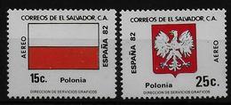 SALVADOR    PA  (  Pologne ) * *     Cup 1982     Football  Soccer Fussball   Drapeaux  Armoiries - World Cup