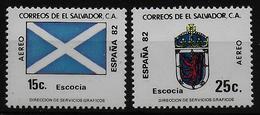 SALVADOR    PA  (  Ecosse ) * *     Cup 1982     Football  Soccer Fussball   Drapeaux  Armoiries - 1982 – Espagne
