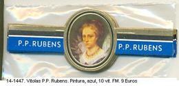 Vitolas P.P. Rubens. Pintura. Azul. F.m.- REF. 14-1447 - Vitolas (Anillas De Puros)