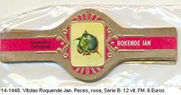Vitolas Roquende Jan. Peces. Rosa, Serie B. F.m.- REF. 14-1448 - Vitolas (Anillas De Puros)