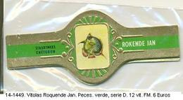 Vitolas Roquende Jan. Peces. Verde, Serie D. F.m.- REF. 14-1449 - Vitolas (Anillas De Puros)