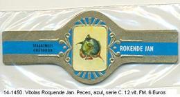 Vitolas Roquende Jan. Peces. Azul, Serie C. F.m.- REF. 14-1450 - Vitolas (Anillas De Puros)