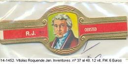 Vitolas Roquende Jan. Inventores,  Nº 37 Al 48. F.m.- REF. 14-1452 - Vitolas (Anillas De Puros)