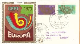 1973 - ITALIA REPUBBLICA - EUROPA - BUSTA FDC FILAGRANO GOLD. - Italia