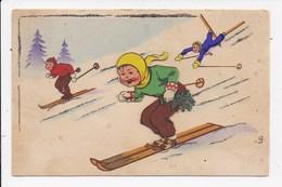 CPSM SYSTEME  Ski - Cartoline Con Meccanismi