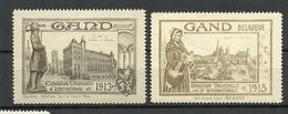 Belgium GAND 1913 Exposition Universelle Et Internationale Advertising Publicitaire * - Commemorative Labels